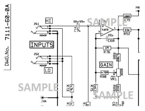 MARSHALL DBS 7200 72115 72410 200w Amplifier Schematic Diagram PDF