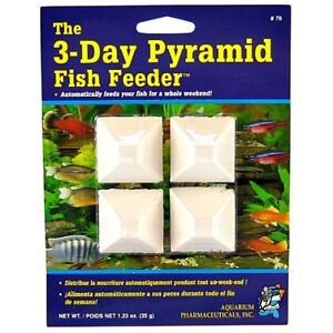 Api mini pyramid 3 day fish feeder weekend food for for Weekend fish feeder