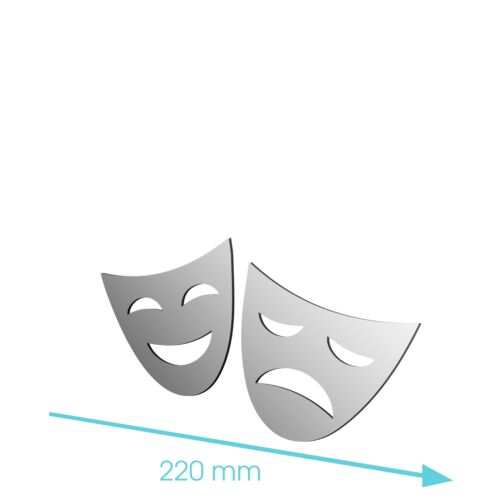 Nouveau acrylique drama masque stade film media play miroir-tailles 100mm à 1200mm