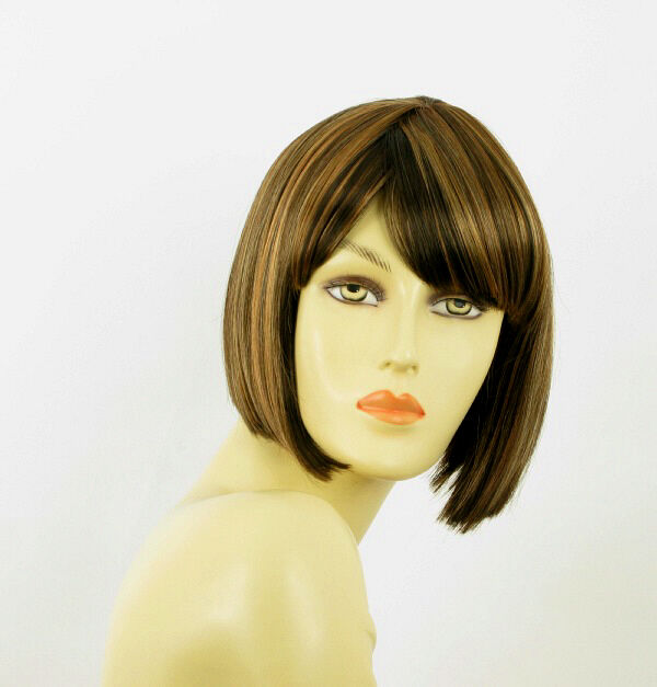 Parrucca donna corta cioccolato mechato rame : maia 627c