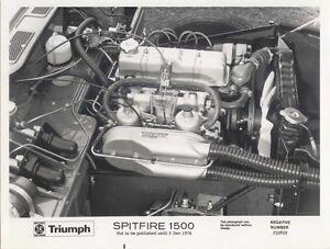 Triumph Spitfire 1500 Engine black & white Press Photograph Pub. No 252803
