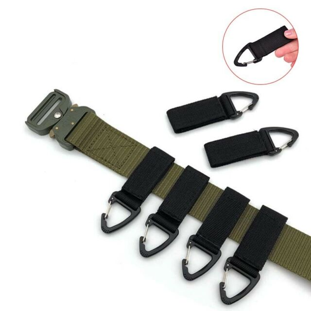 Climbing Outdoor Carabiner Strength Nylon Backpack KeyHook Webbing Buckle Bel>