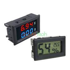 Dc 100v 10a Blueamp Red Led Display Voltmeter Ammeter Dual Digital Volt Amp Meter