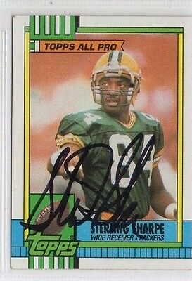 Sterling Sharpe 1990 Topps signed autographed card Green Bay Packers