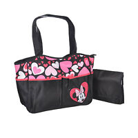 Disney Minnie Mouse Baby Girl Nappy Bottle Diaper Bag Travel Beach Tote Bag NEW