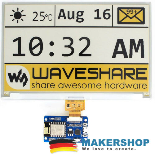 Waveshare ESP8266 Wifi e-Paper Driver Universal Board SPI WLAN E-Ink Display ...