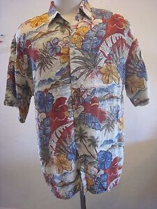 c50c1475 Image is loading Van-Heusen-Hawaiian-Shirt-Washable-Rayon-Brightly-Colored-