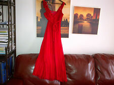 Autograph 100% silk red long dress UK size 10 lined