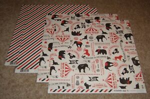 Carta Bella 12x12 Double Sided Scrapbook Papers(4) Circus Party ..Circus Icons