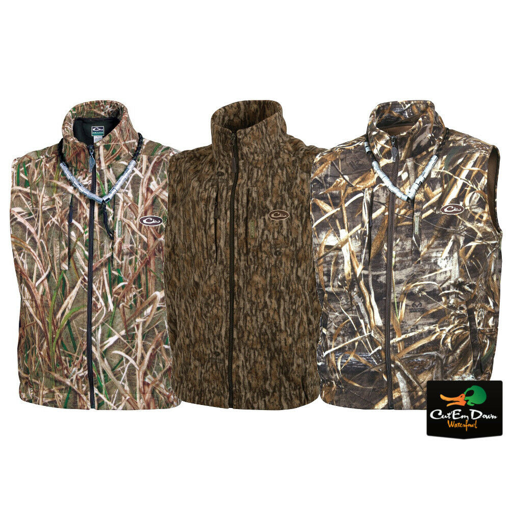 DRAKE WATERFOWL SYSTEMS MST CAMO WINDPROOF FLEECE LAYERING VEST