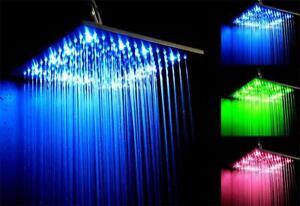 luxus led xxl regenbrause aus edelstahl | duschkopf kopfbrause ... - Regendusche Led