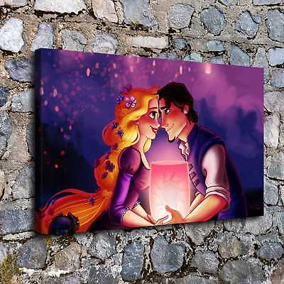 """Disney Tangled Poster 30/"""" x 8.5/"""" Personalized Custom Name Painting Printing"""