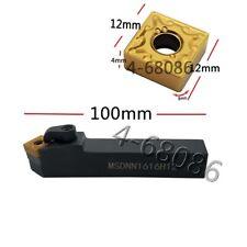 Lathe Turning Tool Tool Holder Msdnn1616h12 5pc Ck Snmg432 Bp010 Carbide Insert