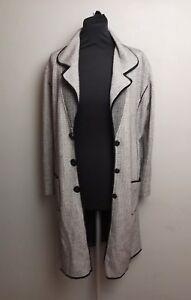 foderati Womens Italian Black White Taglia Long Soft Kfg Pop 12 Jacket Coat Bottoni UpqSxOzw