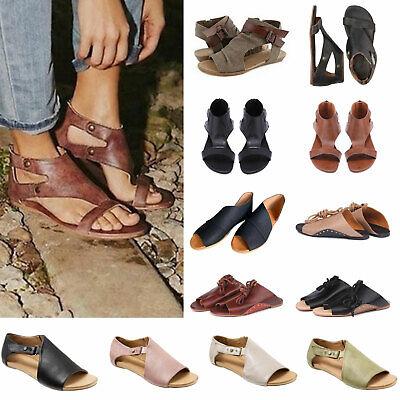Women Gladiator Sandal Open Toe Flat Flip Flop Ladies Slip On Beach Summer Shoes | eBay