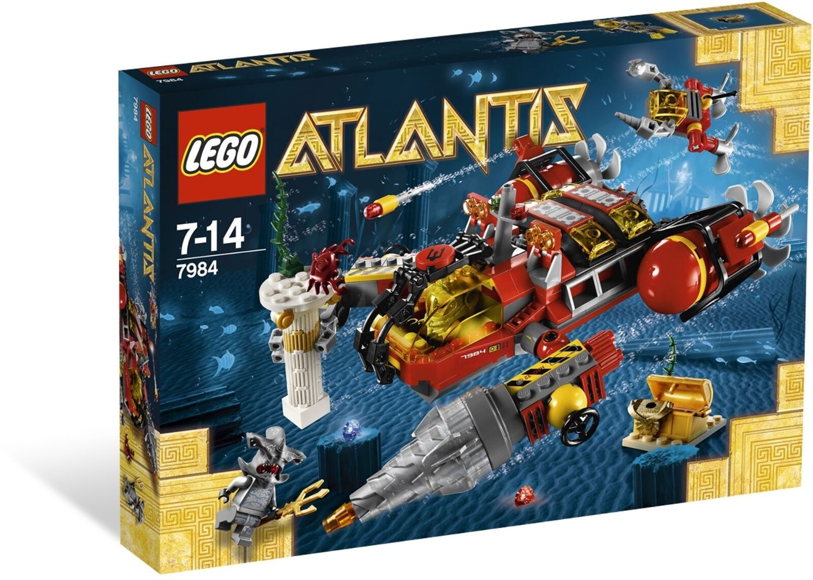 LEGO ® ATLANTIS  7984 foratura-U-avvio NUOVO OVP _ Deep Sea Raider nuovo MISB NRFB  consegna veloce