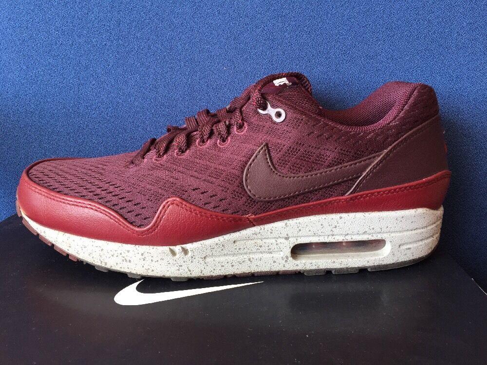 Nike air max 1 em londra londra londra sz 9 maglie rosso mogano squadra forte cemento grigio 554718-600 0d7adf