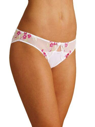 Pack of 2 M/&S knickers choice of Brazilian thongs high leg peekaboo