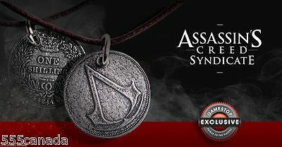 Assassins Creed Syndicate Jacob S One Shilling Necklace Coin