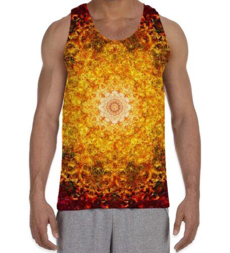 Fleur de vie rouge motif homme All Over Vest Tank Top-Mandala Festival