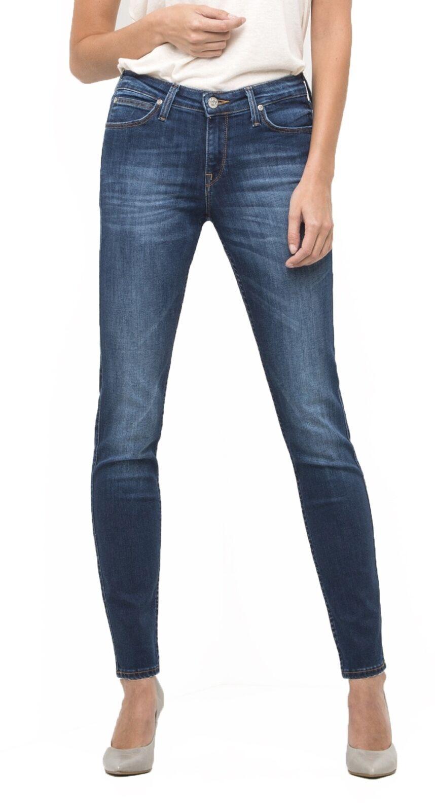 Lee Scarlett Damen Jeans Stretch Neu Damen Enganliegend Bein Nachthimmel