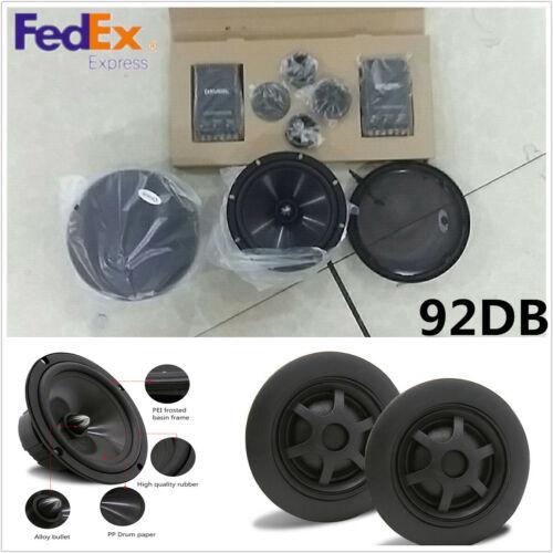 2Pc//Set 6.5/'/' 2-Way 12V Car Speaker Subwoofer Bass Loudspeaker Component System