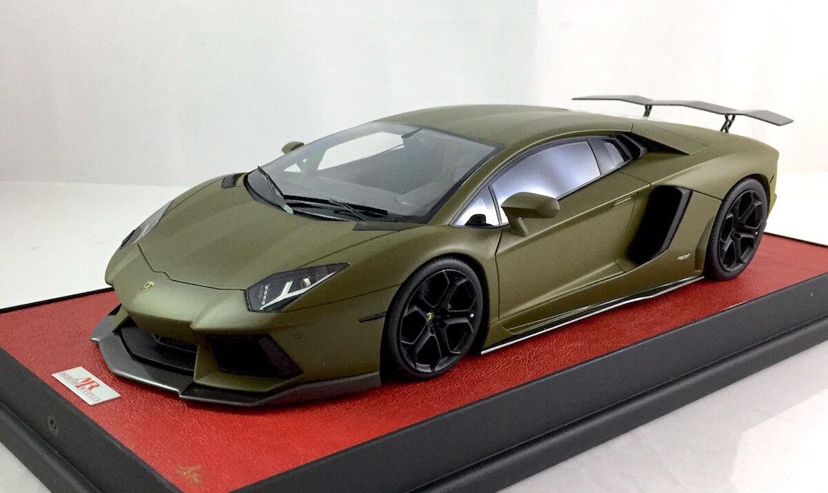 1 18 MR Lamborghini Aventador LP700 Military Grün dg davis lb apm giovanni