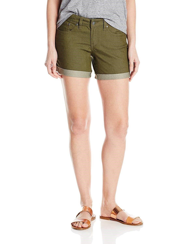Prana Kara Slim Fit Women's Short Sz. 10 (Cargo Green) 149979