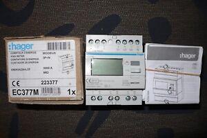 COMPTEUR ELECTRIQUE TRIPHASE MONO HAGER EC377M mesure via TI de 50à 3000A modbus