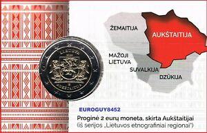 LITOUWEN - COINCARD 2 € COM. 2020 BU - AUKSTAITIJA