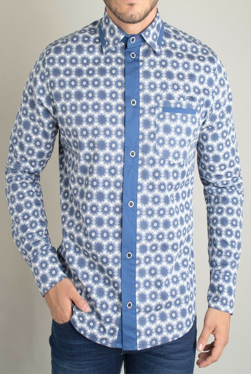 Pavi  shirt bluee 11-0103 for men