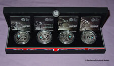2009-2012 LONDON OLYMPICS SILVER PROOF £5 CROWN SET - Full Countdown Series