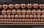 Natural Rose Gold Hematite Gemstones Round Beads 2mm 3mm 4mm 6mm 8mm 10mm 16''