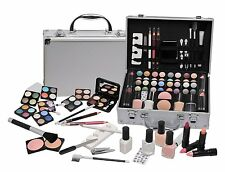 VANITY CASE COSMETIC Make Up Box Travel Carry Gift Storage 58 Pc -Urban Beauty