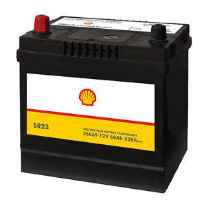 shell sr23 asia autobatterie 12v 60ah starterbatterie plus. Black Bedroom Furniture Sets. Home Design Ideas