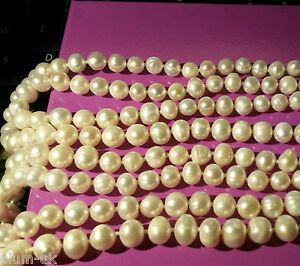 NE-White-7-8mm-AAA-baroque-pearls-66-034-flapper-necklace-124g-BOXED-Plum-UK
