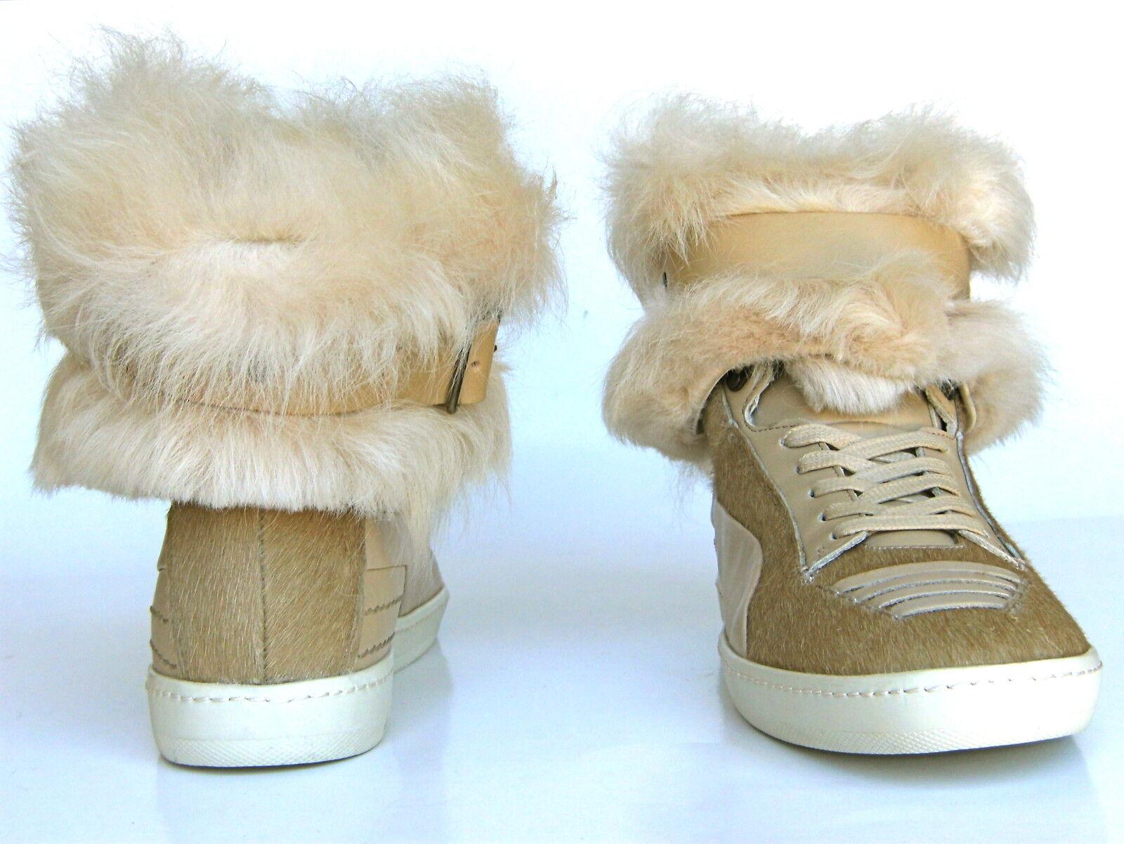 Puma ALEXANDER McQUEEN FUR JOUSTESSE Hi Sneaker Boot Shoes WEAR 2 WAY Women 10.5