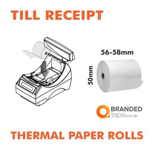 58mm TILL RECEIPT ROLLS THERMAL PAPER credit card machine paper
