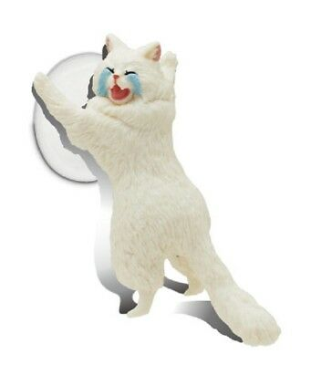B121 Kitan Club Smart Phone Holder Stand Fur ball Cat Neko White/&Cry New Fast