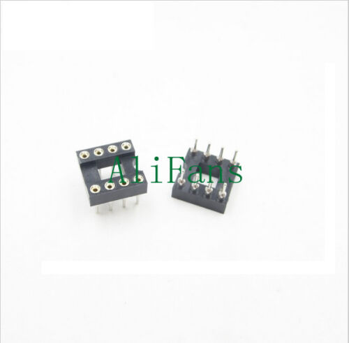 10PCS 8Pin 8 DIP SIP Round IC Sockets Adaptor Solder Type gold plated machined