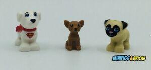 LEGO® Friends Tier Figuren- 3x Dog* Chihuahua* Super Dog* Mops* Neuware