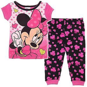 7053c13df7ed Disney Minnie Mouse 2 PC Short Sleeve Tight Fit Cotton Pajama Set ...