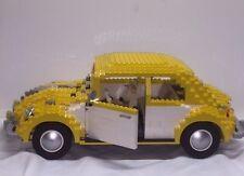LEGO YELLOW VARIANT VOLKSWAGEN BEETLE 10187 Set Sculptures bug car no sticker