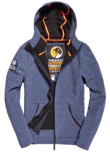 NUOVA linea uomo Superdry alpinista Softshell Premium Giacca Blu Navy cationici UK