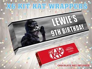 PERSONALISED Elmo Kit Kat Label Wrapper Ideal Party Bag Filler