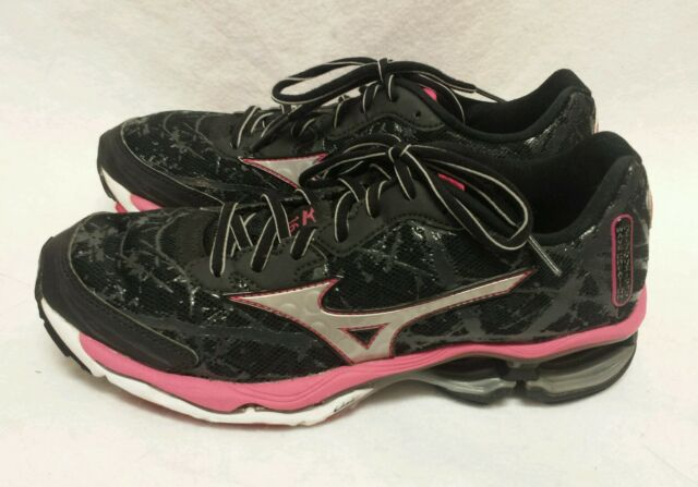 Women s MIZUNO WAVE CREATION 16 Black Pink Athletic Shoes Size 8.5 d95735b6c2c34