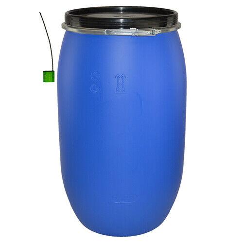 220 Litre Open Top Blue Plastic Keg/ Drum/ Barrel Food Grade with Lock