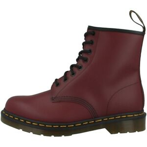 Dr-Doc-Martens-1460-BOOTS-8-Trous-Bottes-en-Cuir-Cherry-Red-Smooth-11822600