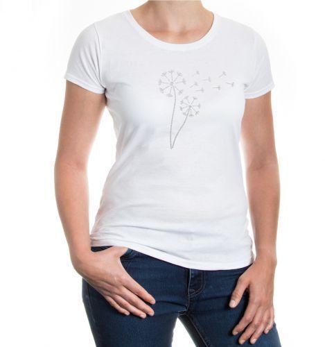 Da Donna a Maniche Corte malvagia T-shirt PUSTEBLUME PRATO ESTATE fortuna amore