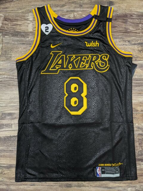 Kobe Bryant Lakers #8 #24 Black Mamba Day Snakeskin Lore Series Jersey Small